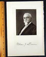 WILLIAM JOHN QUINN Roxbury, Massachusetts MA Steel Engraving Portrait 1916 PRINT