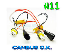 H11 LED Luce Antinebbia Drl nessun errore RESISTORE CANBUS WARNING libera AUDI BMW VW GOLF MK5