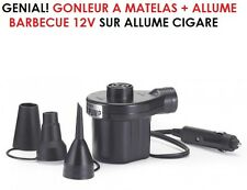 GENIAL! GONFLEUR A MATELAS - ALLUME BARBECUE GONFLEUR BALLONS 12V ALLUME CIGARE