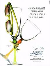 PUBLICITE ADVERTISING  1999    CRISTAL D'ARQUES  verres collection  EDEN