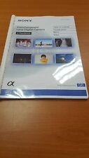 SONY NEX 6 Fotocamera Digitale stampato Manuale di Istruzioni User Guide 247 Pagine A5