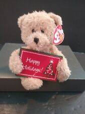 2006 OFFICIAL BEANIE BABY TY CHRISTMAS HAPPY HOLIDAYS BEAR