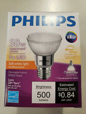 (12) Brand New Philips 471102 - 7W LED Par20 Soft White Light Bulbs Lamps