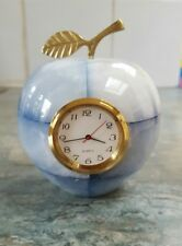 Onyx marble apple quartz clock new