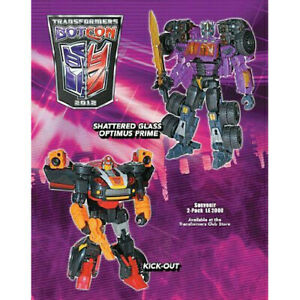 Botcon 2012 Transformers Kick Off + Optimus Prime Shattered Glass 2-Pack SEALED