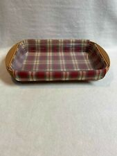 Longaberger (2003) Small Serving Tray Basket with Wood Handles