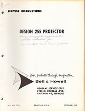 BELL & HOWELL SERVICE MANUAL: 255 PROJECTOR -1960