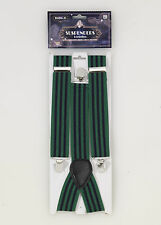Green & Navy Blue Suspenders Roarin 20's The Great Gatsby  Costume Accessory
