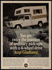 1966 JEEP GLADIATOR 4 Wheel Drive & Camper VINTAGE AD