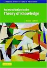 NEW - An Introduction to the Theory of Knowledge by Lemos, Noah