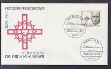 LA 360 ) Germany Berlin 1984 FDC  50th anniversary of the death  Erich Klausener
