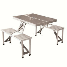 KingCamp Aluminum Folding Picnic Table Portable Suitcase Bench Outdoor Camping