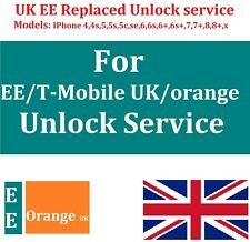 REPLACED EE UNLOCK SERVICE FOR  IPHONE 4 5 5s 6 6s 6s+ 7 8,8 PLUS AND IPHONE X