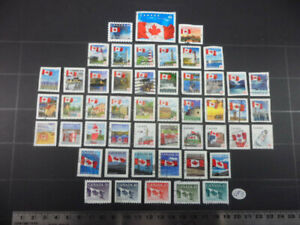 Lighthouses and Flags Stamps from Canada Lot LF5