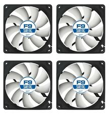 4 x Pack of Arctic Cooling F9 Silent 92mm Case Fan 1000 RPM, 21.2 CFM Airflow