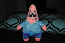 "SpongeBob Squarepants Patrick Starfish Plush BLUE 12"" Hawaiian Beach Doll HTF"