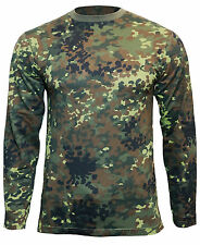manga larga color Flecktarn Camuflaje Camiseta - Todas las tallas -