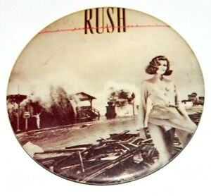 1980 RUSH PERMANENT WAVES 3 INCH concert pin pinback button music memorabilia