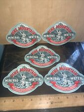 Pine Mountain Mineral Water -Paper Labels- Cloverdale California 5 Labels