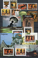 Guyana 1989 Olympiade Olympics Barcelona 3064-3069 Block 63 und 65-70 MNH