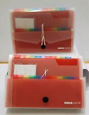 Porta documenti Memotak Voucher Neon 12 tasche