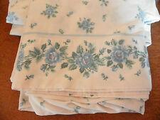 VINTAGE JCPENNEY QUEEN SHEETS-BLUE & WHITE-50/50 COTTON BLEND-SO COTTAGE! CLEAN