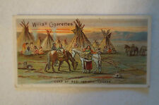 Vintage 1900's-Wills British Empire Series Card- Red Indian Camp -Vice Regal