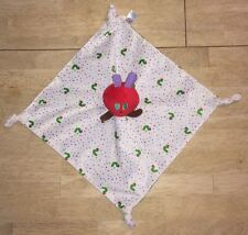 Eric Carle Very Hungry Caterpillar Lovey Baby Blanket Green Satin Plush Security