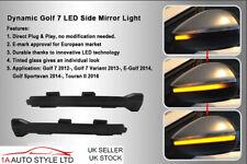 Kehren Fließen LED Seitenspiegel Außenspiegel Blinker Für VW Golf 7 Touran