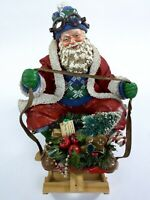 """VTG Santa Claus Figure By Possible Dreams Crafted Paper Mache 8"""" Christmas Decor"""