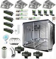 Complete Grow Tent kit Lumi Aircooled Digital 600w Light 240 x 240 x 200 cm