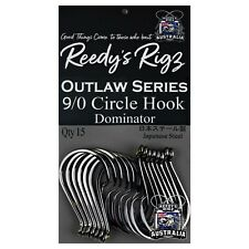 9/0 Circle Otopus Pack Hook's Offset Heavy Guage Japanase Made Reedy's