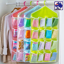4Colors 16Pockets Closet Wardrobe Hanging Organizer Rack Storage Home HGATH 81