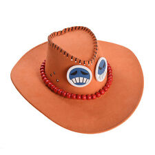 Ace Cosplay Hat Cap Costume One Piece Japanese Anime Cowboy Hat Skull Cartoon