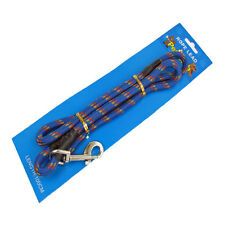 Dog Lead Walking Pet Strong Nylon Blue Hook Trigger Close Pull 10mm x 1 Metre