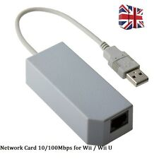 USB 2.0 Lan Adapter to RJ45 Ethernet Network Card 10/100Mbps For Wii / Wii U