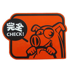 Pig Check drift safety sign Set Up JDM tuning stickers decals racing car emblem