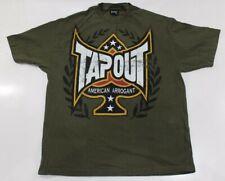 Tapout Mens Graphic TShirt XL Green American Arrogant MMA Short Sleeve shirt tee