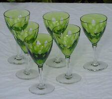 Val Saint Lambert - 6 verres à vin en cristal doublé modèle Nestor taille Hamlet
