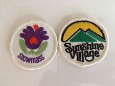 2 Snowmass Sunshine Village Patches Ski Snowboard