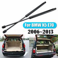 For BMW X5 E70 2006~2013 2PCS Spring Steel Black Tailgate Boot Struts ❤️