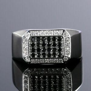 Men's Halo Engagement & Wedding Fancy Ring 1.75 CT VVS1 Diamond 14K White Gold