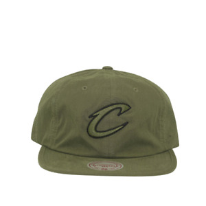 Cleveland Cavaliers Outdoor Low Pro Strapback Cap in Olive