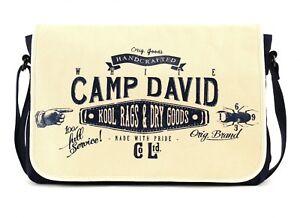 CAMP DAVID Blue Creek Messengerbag Schultertasche Umhängetasche Herren Offwhite