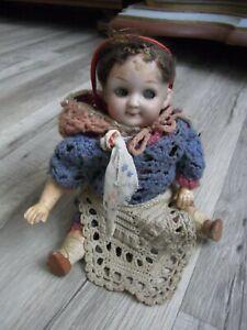 Uralte kleine Porzellan Puppe Gebrüder Heubach Googly/Kewpie, Dachbodenfund