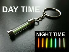 GLOWS NON STOP FOR DECADES! PINK Tritium Key Chain/Keyring/Glow In The Dark
