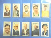 1935 In The public Eye by Godfrey Phillips Complete Tobacco Card Set of 54 cards