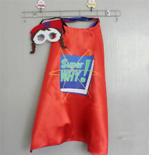 New PBS Show Super Why Wonder Red Capes Mask Set Kids Christmas Costume Party