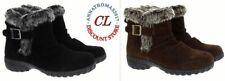 Khombu Women's Lindsey Suede Weather Waterproof Ankle Booties, Black/Brown