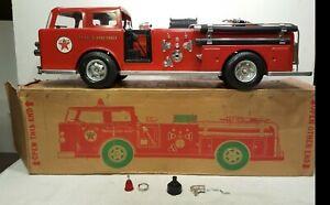 Texaco Fire Engine. Wen Mac. 1960s. Original Box. *NICE*
